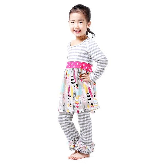 Groothandel Babykleding.Meisjes Kleding Vallen Boutique Outfit Groothandel Babykleding Grijs