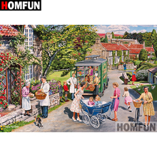 HOMFUN 5D DIY Diamond Painting Full Square/Round Drill Town scenery Embroidery Cross Stitch gift Home Decor Gift A08303 homfun 5d diy diamond painting full square round drill house scenery embroidery cross stitch gift home decor gift a08417