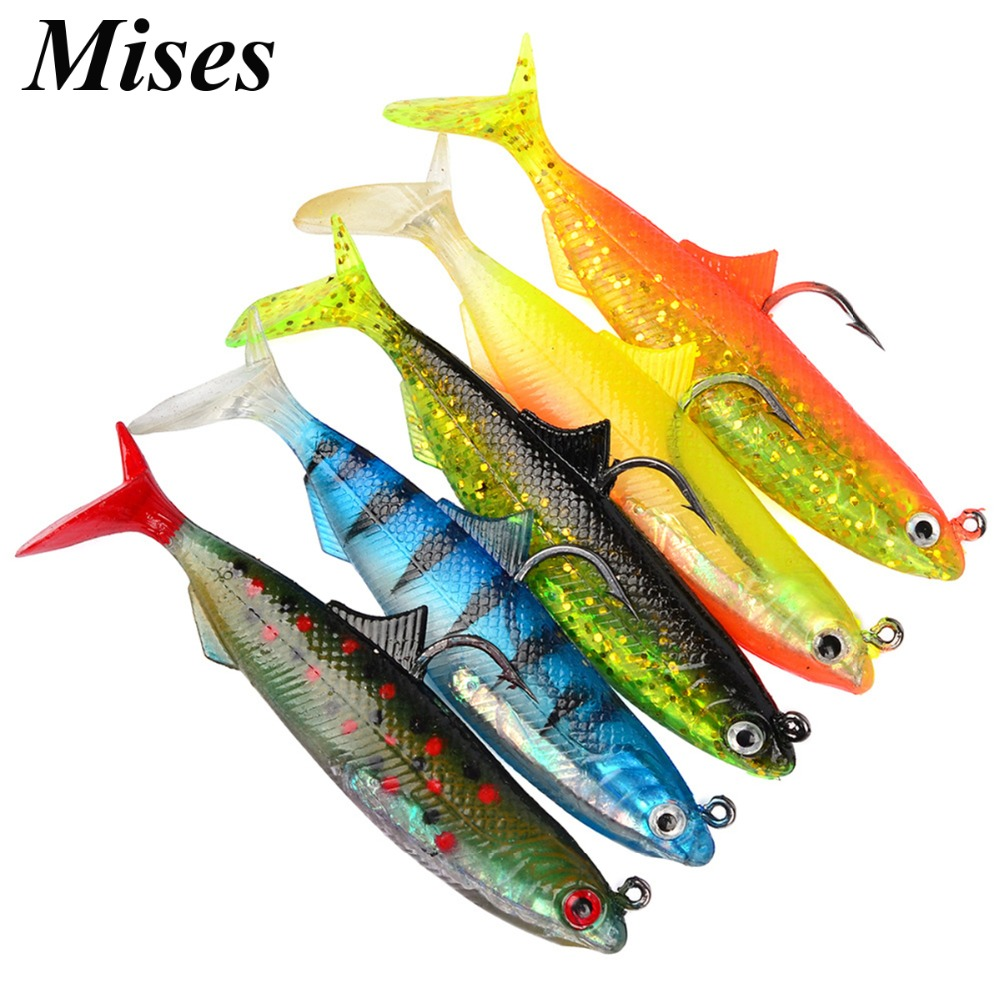 Mises 10.5cm 21g Lead Coating Silica Gel Bionic Soft Bait Lure With Hook Artificial Stroke Soft Bait Fishing Lure Fishing Tackle
