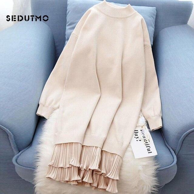 062bd3f0e8e1d SEDUTMO Winter Plus Size 4XL Dress Women Tunic Knitted Dresses High Waist  Sexy Long Sleeve Vintage Casual Party ED711