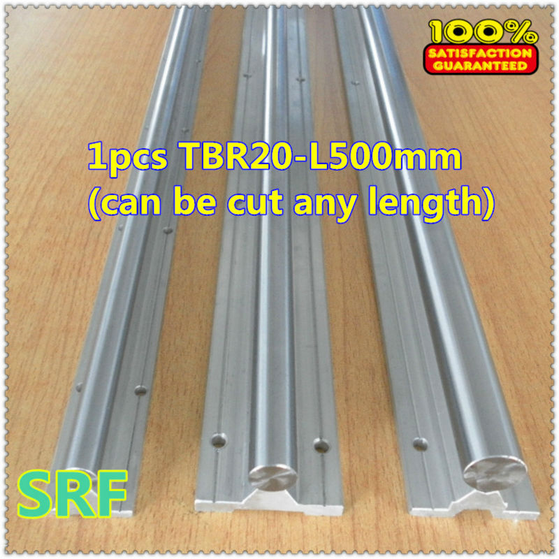 1pcs 20mm TBR20 L=500mm(can be cut any length) linear guide shaft rail for CNC chrome plated quenching hard guide shaft 2pcs linear shaft 500mm long diameter 20mm l 500mm harden linear rod round shaft chrome plated