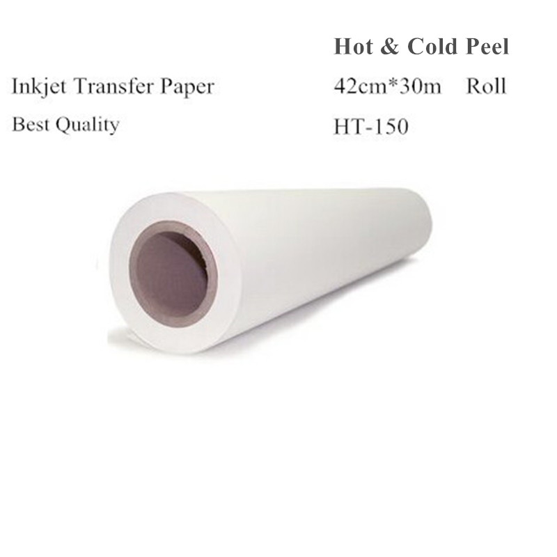 Heat Transfer Paper Roll Size 42cm*30m Light Color Inkjet Heat Transfers For Clothes Papel Transfer Papier Transfert HT-150 adrian bejan heat transfer