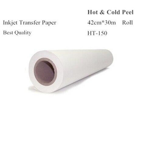 rolo de papel de transferencia de calor tamanho 42 cm 30 m cor da luz