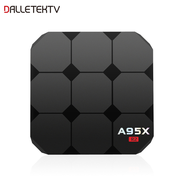 A95X R2 Smart TV Box With Amlogic S905W Quad Core 2.4G WiFi 100M LAN Android 7.1 BOX 4k 2GB 16GB HDMI 2.0 Streaming Media Player