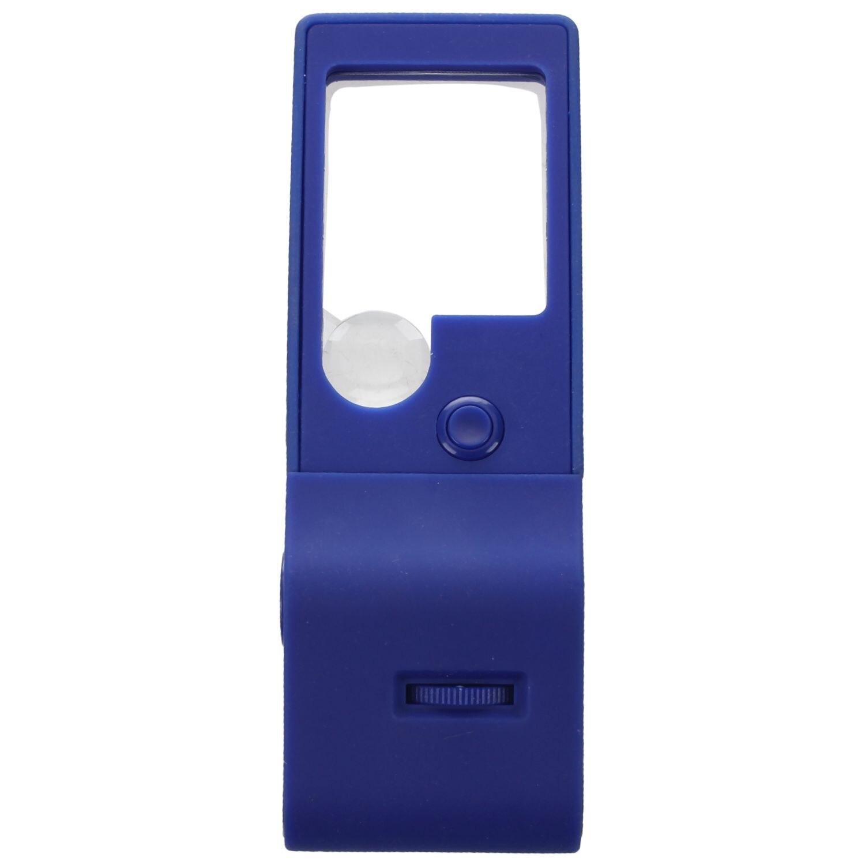 DYH-3X 10X 55X Mini Eye Glass Jewelers Loupe Magnifier Microscope LED & UV Lights