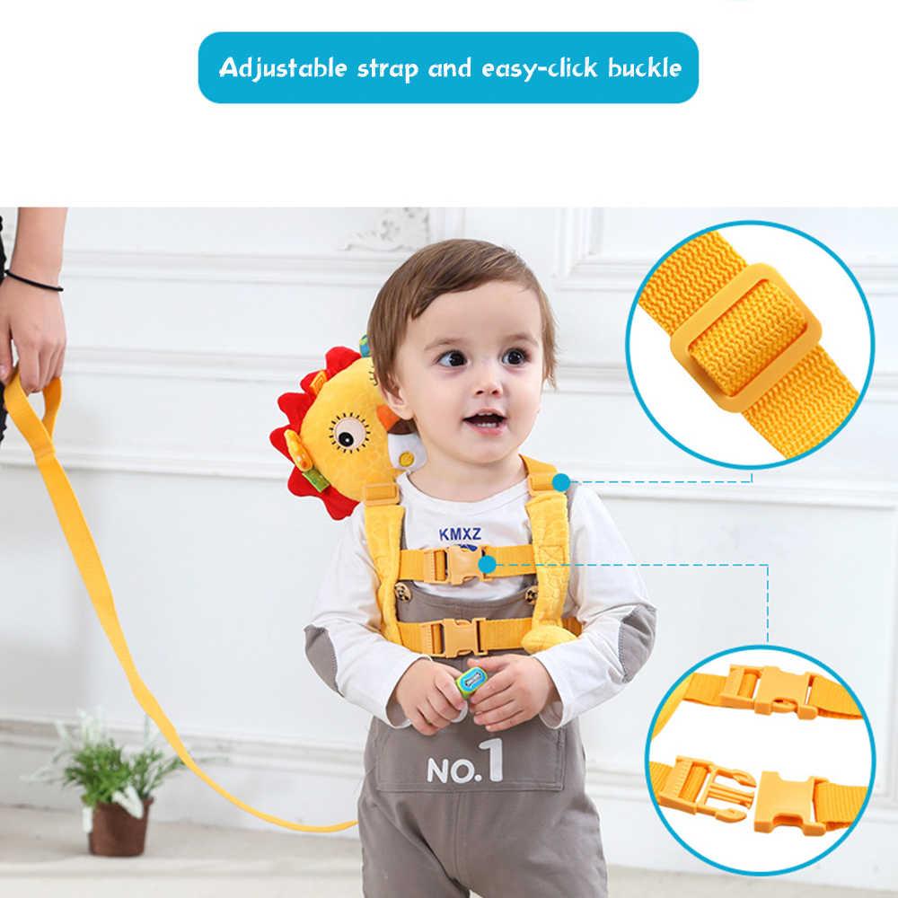 רך קטיפה תינוק בטיחות רתם ווקר בפלאש בעלי החיים נגד אבוד רצועת כתף תרמילי תיק פאלם זבד עבור תינוקות תינוק