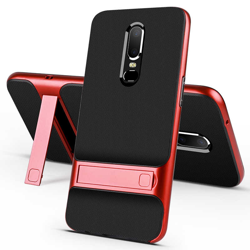 Oneplus 6 Case Oneplus 5T Cover Anti-Shock Hybrid Soft Tpu Hard Bumper Case Voor Oneplus 7 pro 7T 6T 5 3 Stand Telefoon Cover Shell