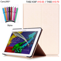 New Gold PU Leather Smart Case For Lenovo Tab 2 A10 70 A10 70F A10 70L