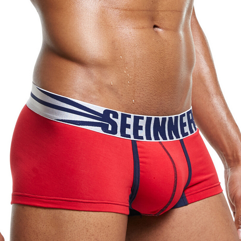 Seeinner Brand Sexy Underwear Men  Printed Boxers Men Cotton Boxers Panties Calzoncillos Hombre Slip Men Underwear Shorts