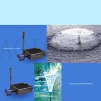 40W 2000L/H Multi function Pond Fountain Pump Water Pump with Filter Garden Pond Pump Beautiful Fountain Decoration