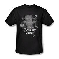 Fashion Men T Shirts Round Neck Opening Monologue The Twilight Zone Adult T Shirt