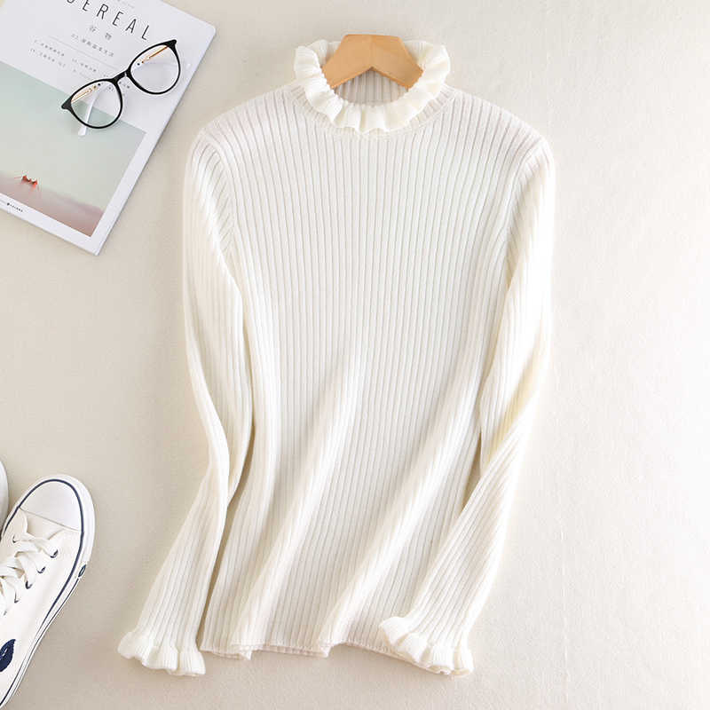 Women's Grey White Black Merino Wool Knit Sweater Women Autumn Winter Warm Cashmere Sweaters And Pullovers Female Casual Jumpers