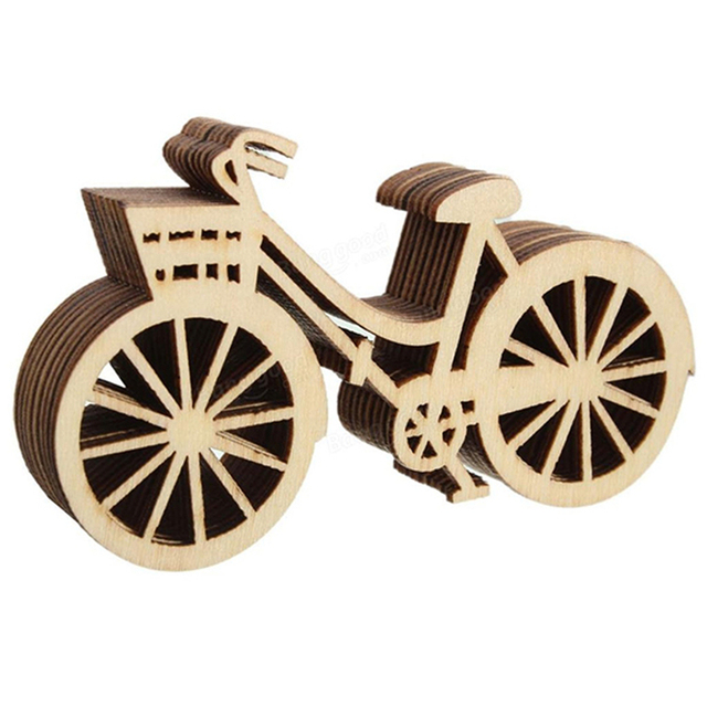 10pcs Wooden Bicycle Wood Craft For Rustic Themed Wedding Party Home