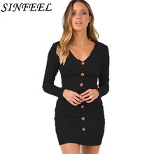 SINFEEL Fashion Autumn Sweater Dress Womens Sexy V-Neck Knitted Sweaters  and Pullovers Winter Jumper d0b3ba29af70