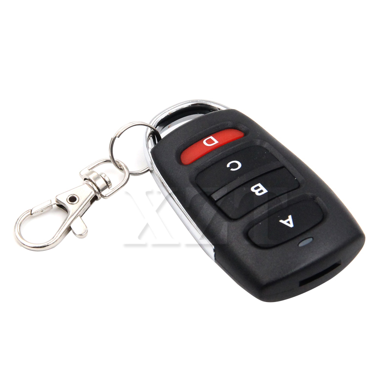 315mhz Electric Garage Door Remote Control Key Fob 4 Buttons Touch Switch Copying Transmitter Cloning Duplicator Garage Opener Attractive Appearance Access Control Door Remote Control