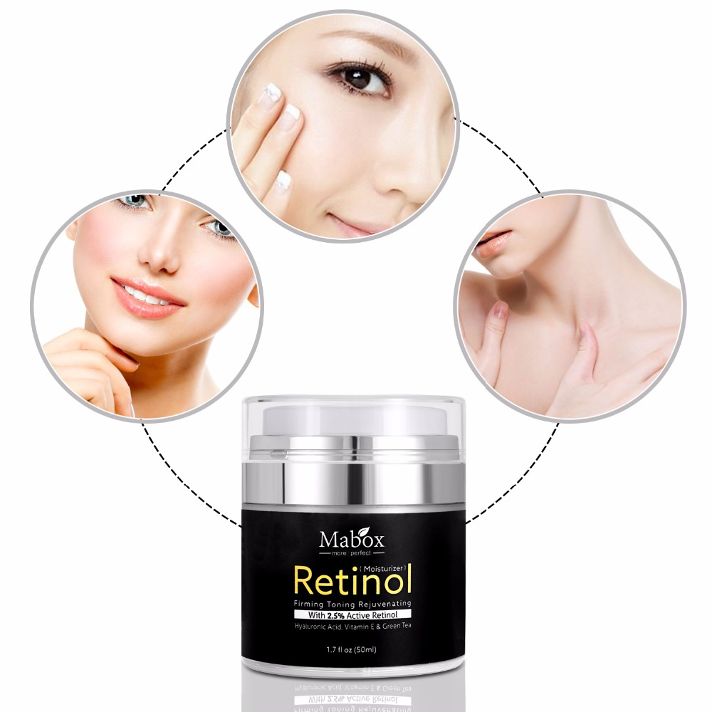 50Ml Mabox Retinol 2.5%moisturizer Face Cream Hyaluronic Acid Antiaging Remove Wrinkle Vitamin E Collagen Smooth Whitening Cream 2