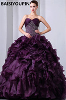 Purple Quinceanera Dress Vestido Debutante 15 Anos 2019 Heavy Beaded Organza Ball Gown Dresses for Quinceaneras