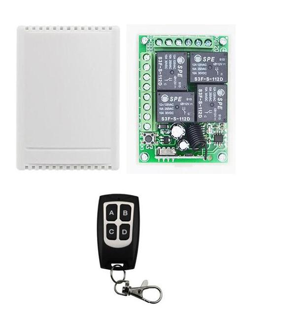 4ch 12v Light On Off Rf Winch Wireless Remote Control Circuit
