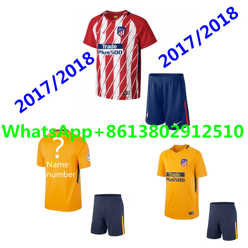 e9264e9b3 ... 2017 Top Thai Best quality Jersey short sleeve Adult kit 17 18  Atleticoes Madrides Home Red ...