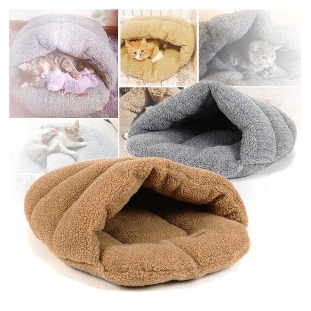 Pet cat bed small dog puppy Kennel sofa pet mat cat house cat sleeping bag winter nest A2