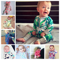 Ins Cute New Born Baby Boys Girls Footed Rompers For Infant Baby Foot Cover Pajama Sleeping