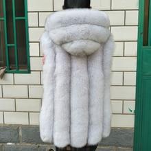 2016 fur vest fox fur with a hood female leather coat medium-long hat bars vest
