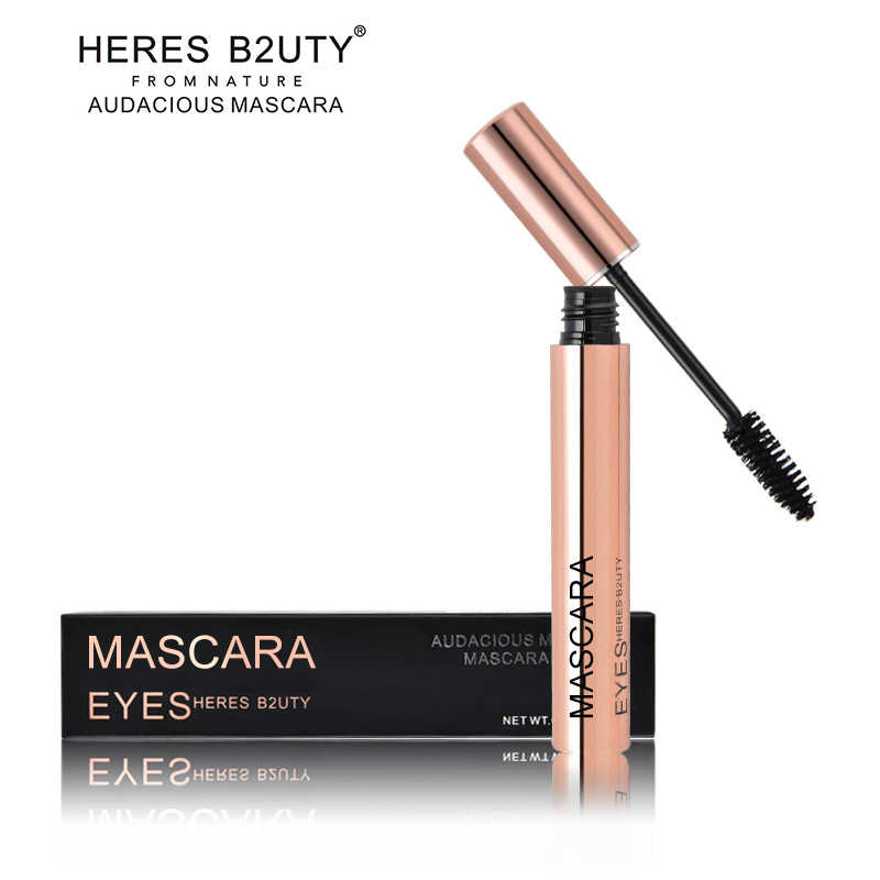 c28ab62bb67 ... Brand HERES B2UTY 3D Fiber Long Lash Waterproof Lengthening Thick  Cosmetics Black Mascara High Quality ...