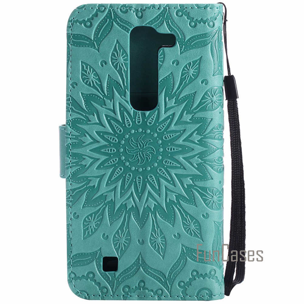 "Luxury Flower Embossed Case sFor fundas LG G4c G4 mini H525N H522Y Case sFor coque LG Magna H502F H500F C90 Case 5"" +Card Holder"