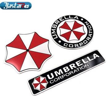 3D Aluminum Umbrella Corporation Car sticker Accessories Stickers For Ford Focus Cruze Kia Rio Skoda Octavia Mazda Opel 1pcs new 3d aluminum baby in car stickers for ford focus cruze kia rio skoda octavia mazda opel vw audi bmw lada car accessories