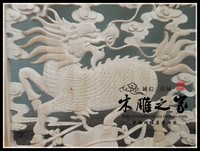 Dongyang kylin Phoenix Chinese antique wood carving custom pendant murals carved wood doors and Windows partition room