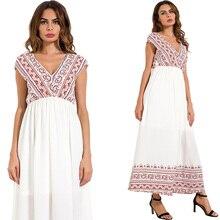فستان صيفي بلا أكمام من الشيفون