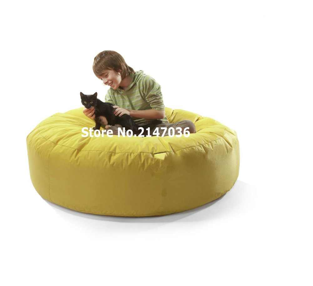 Incredible Yellow Round Island Bean Bag Chair Outdoor Sofa Cover Hug Theyellowbook Wood Chair Design Ideas Theyellowbookinfo