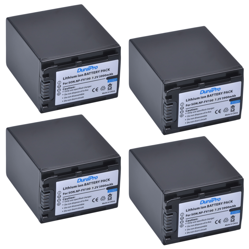 4pcs Durapro 3900mah Np Fv100 Npfv100 Rechargeable Camera L200 12v Constant Voltage Battery Charger Circuit This Digital For Sony Hdr Cx150ehdr Cx170