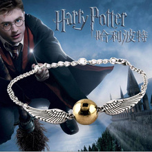 Fine Movies Jewelry Magic Academy Harry P Deathly Hallows Golden Snitch Bracelets Bangles For Women Men Jewelry Accessories