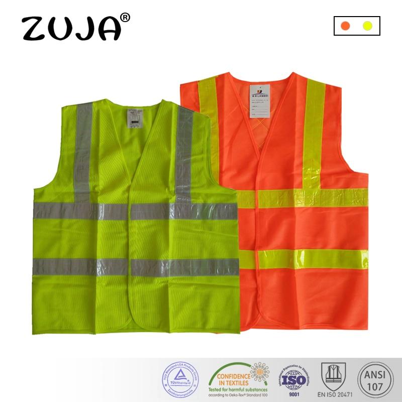 Malha Colete de segurança Colete de segurança de Tráfego luz Fluorescente 2H2VPVC Fita