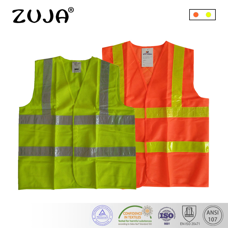 Efficient Reflective Vest Breathable Mesh Multi Pockets Construction Traffic Safety Protective Jacket Fluorescent Clothes Work Clothing Workplace Safety Supplies