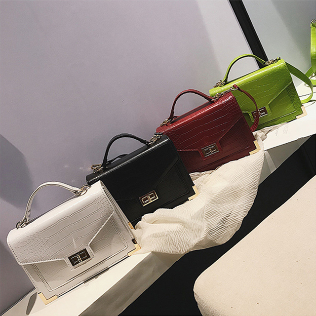 Bolsa Mujer Bags For Women 2019 Luxury Handbags Women Bags Crocodile Pattern PU Leather Shoulder Messenger Bag sac a main Design
