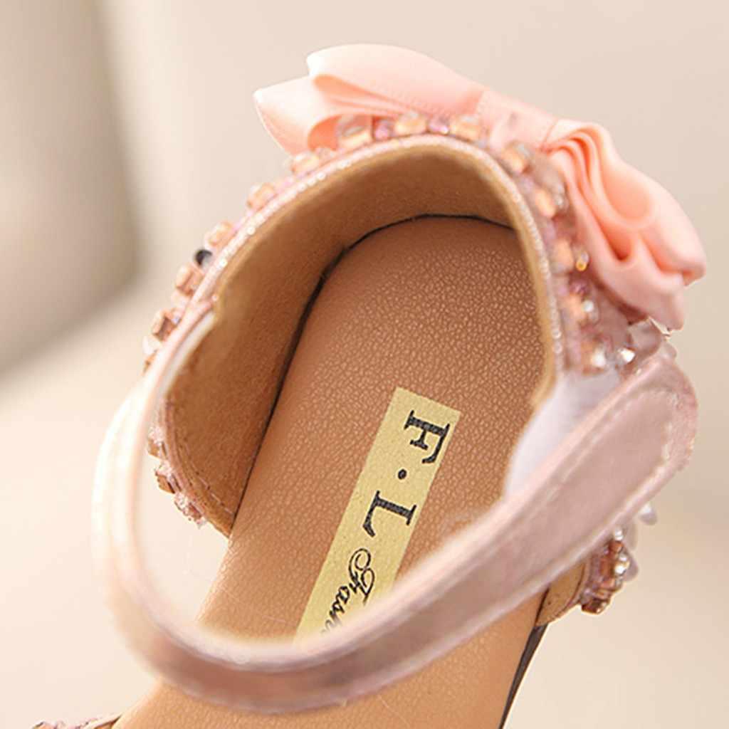 รองเท้าแตะสำหรับสาวฤดูร้อนเด็กเด็กทารกเด็กBowknotคริสตัลเจ้าหญิงรองเท้าแตะรองเท้าแต่งงาน # TX4