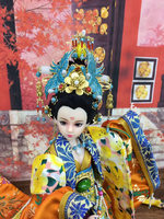 Handmade Collectible Chinese Dolls Traditional BJD Doll With 12 Joints Movable Ancient Costume Doll Girl Toys