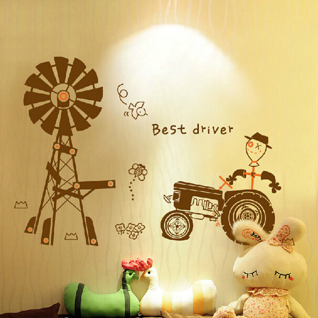 Free shipping new arrival Removable PVC Kids Wall Sticker Happy Farm ...