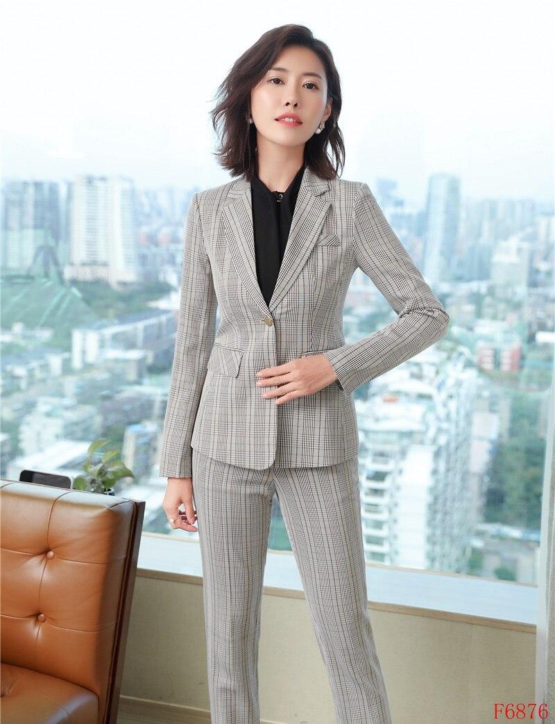 Dames Mode Pantalon Et Pour D'affaires Femmes Ol Work 2018 Ardoisé Wear Élégante Blazer Hiver Formelle Styles kaki Les Ensembles De Veste Costumes wCq0IY