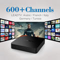 S905X T95N Android 6.0 TV Box Amlogic Quad Core Wifi 1G 8G Conjunto Top Box con 600 1 Año Gratis IPTV Árabe Europa REINO UNIDO Francés TV Box