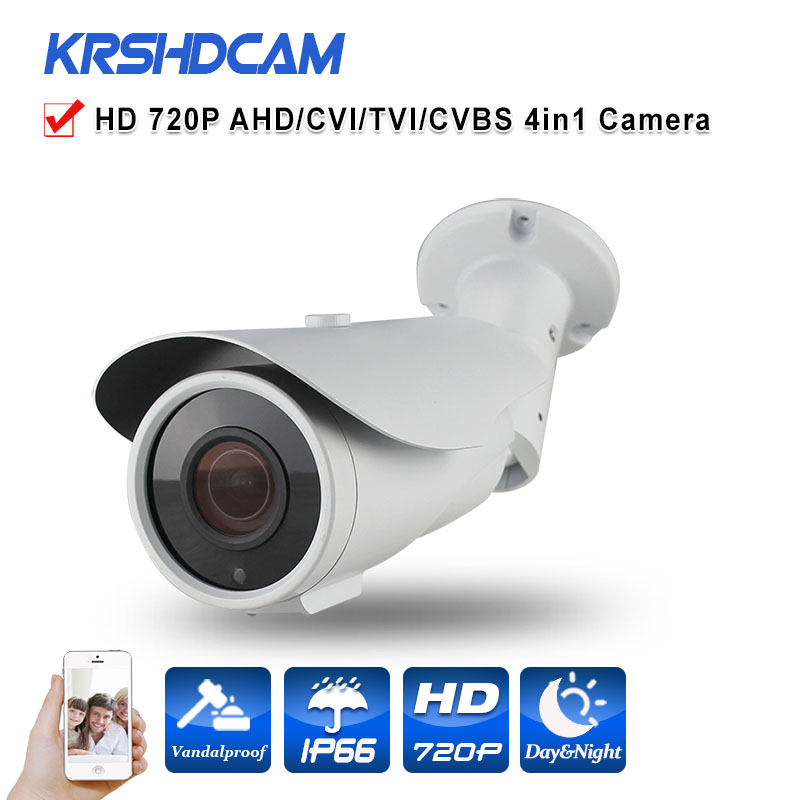 CCTV AHD camera 1.0MP AHD-M 720P Varifocal bullet  BNC HD analog outdoor waterproof IP66 Security 2.8-12mm Zoom Night Vision wistino cctv camera metal housing outdoor use waterproof bullet casing for ip camera hot sale white color cover case