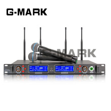 G-MARK Professional UHF Wireless Diversity Receiver System Microphone 2 Channels Handheld Video Karaoke Top quality