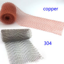 Copper Mesh for distillation Stainless Steel Mesh for distillation 1-20 Meter 100mm Width Corrugated eflux Moonshine Brewing(China)