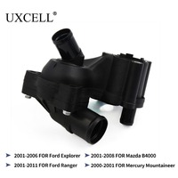 UXCELL 4L5E8A586AB Thermostat Housing 4L5E8594AA For Ford Explorer 2001 TO 2006 Ranger 2001 TO 2011 For