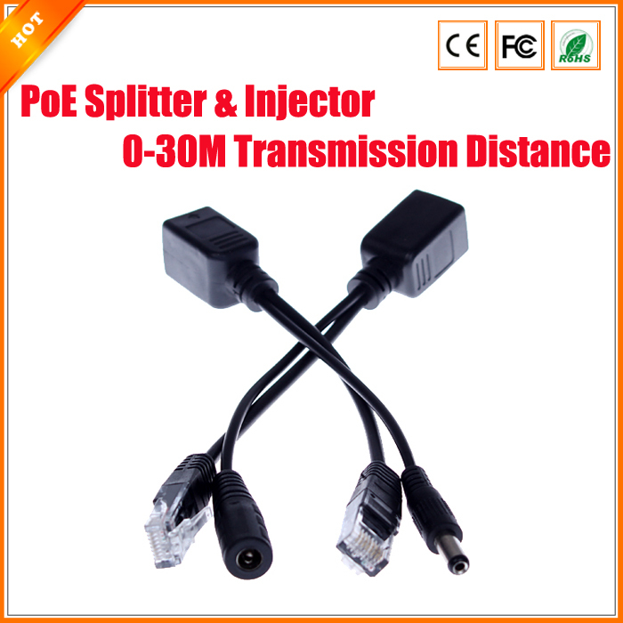 2Pairs/Lot PoE Passive Cable Splitter Power Over Ethernet For PoE IP Camera PoE Splitter & Injector Cable Kit PoE Adapter