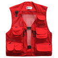 Summer Mesh Vest Casual Breathable Men's Vests Quick-drying Clothes Multi-pocket Photography Vest