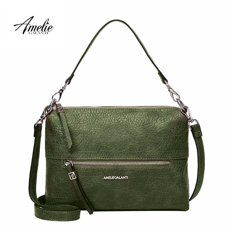 AMELIE GALANTI Women's Bag Shoulder & Handbags Convenient and Practical Medium Size Ladies Leather Bag