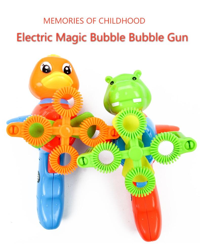 Noua vară Funny Magic Bubble Blower Machine În aer liber Jucării - Sport și în aer liber